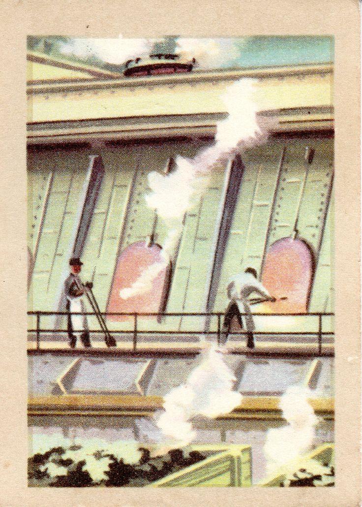 JACQUES SUPERCHOCOLAT - LES METIERS DANGEREUX: Le gazier (Chromos instructifs - 141)