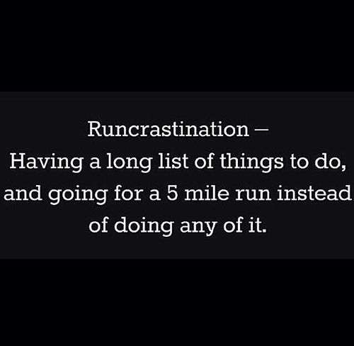 Runcrastination - This is my life!! Funny running memes for people who love to run #Idratherberunning