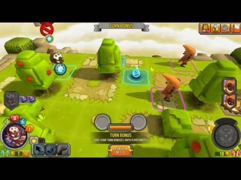 Krosmaster Arena Gameplay 3 - Krosmaster Arena is a 3D Free-to-Play Turn Based Strategy [TBS] MMO Game featuring PVP [Player vs Player] oriented 3D board Arena and Turn-Based gameplay