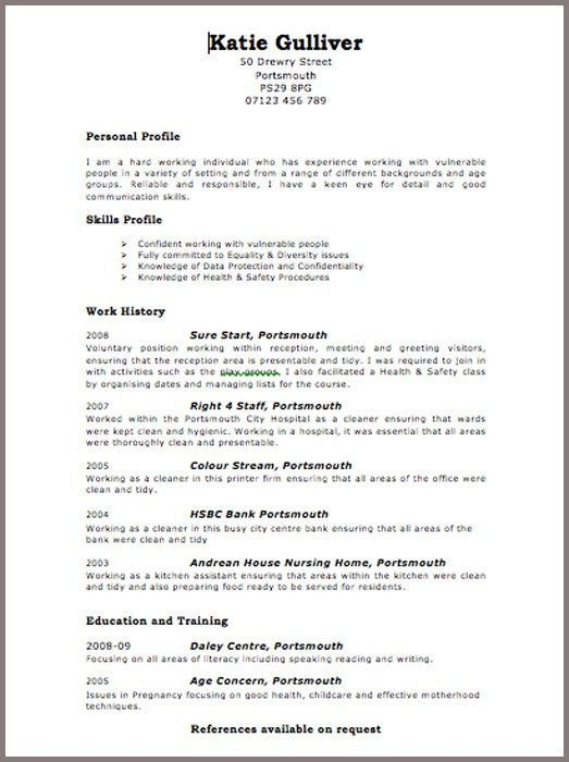 Uk 4-Resume Examples Online resume template, Resume, Cv template