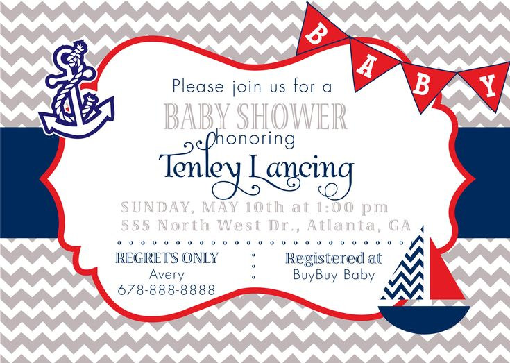 10 Best Impressive Nautical Baby Shower Invitations Design Images   Free  Customizable Printable Baby Shower Invitations  Free Customizable Printable Baby Shower Invitations