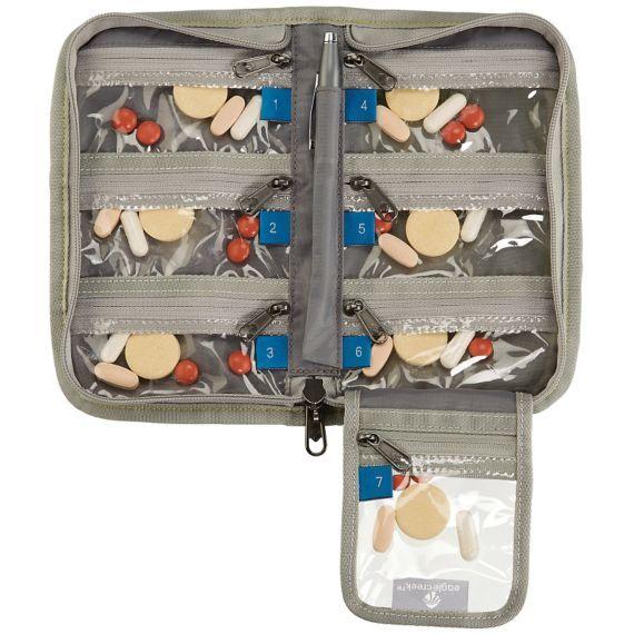 "Eagle Creek Specter 7-Day Pill Organizer: 8""L x 4""W x 1 1/2""H. 4 oz."