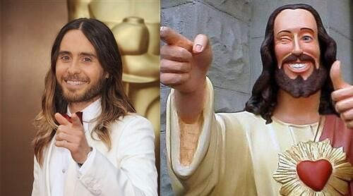 Jared Leto Totally Looks Like Jesus. I will always be a sucker for Kevin Smith's Buddy Christ.