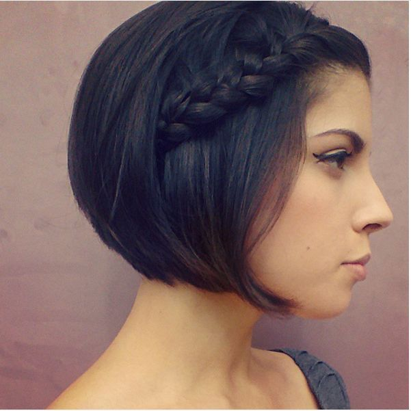 simple cute braid for short hair bmodish
