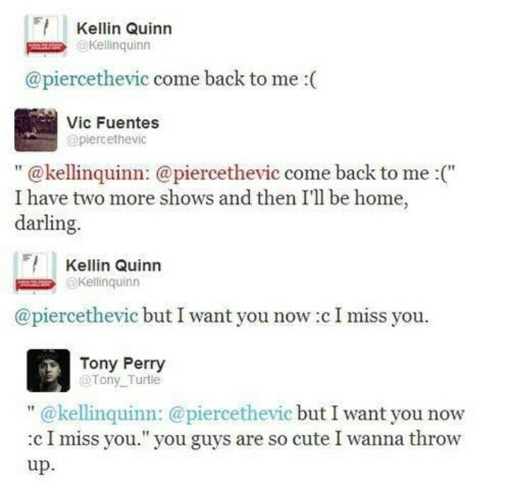 Kellin Quinn, Vic Fuentes, and Tony Perry. XD
