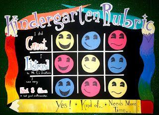 Kindergarten Rubric