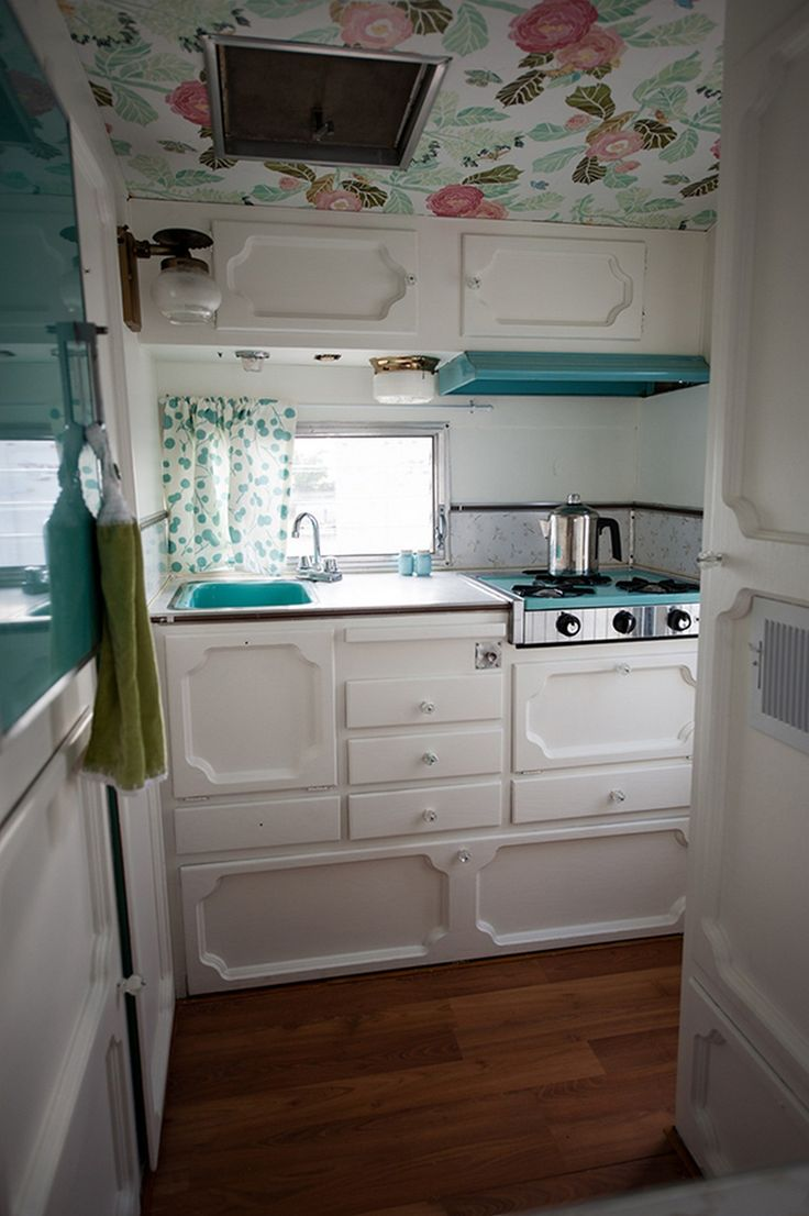 cool 50 Glamping Trailer Makeover and Renovation https://www.abchomedecor.com/2017/07/01/50-glamping-trailer-makeover-renovation/