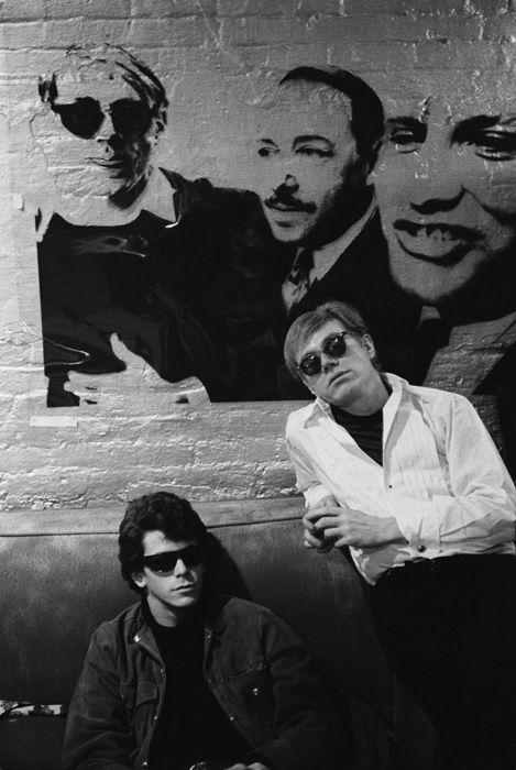 Andy Warhol e Lou Reed, leader dei Velvet Underground