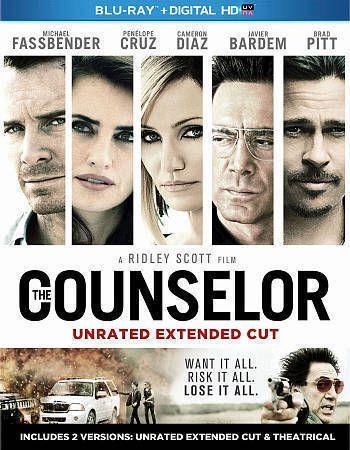 The Counselor (Blu-ray/DVD, 2014, 2-Disc Set) Cameron Diaz, Brad Pitt /Brand New #20thCentury