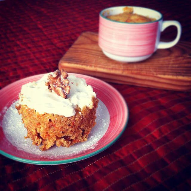 Mug carrot cake / Tarta de zanahoria en taza