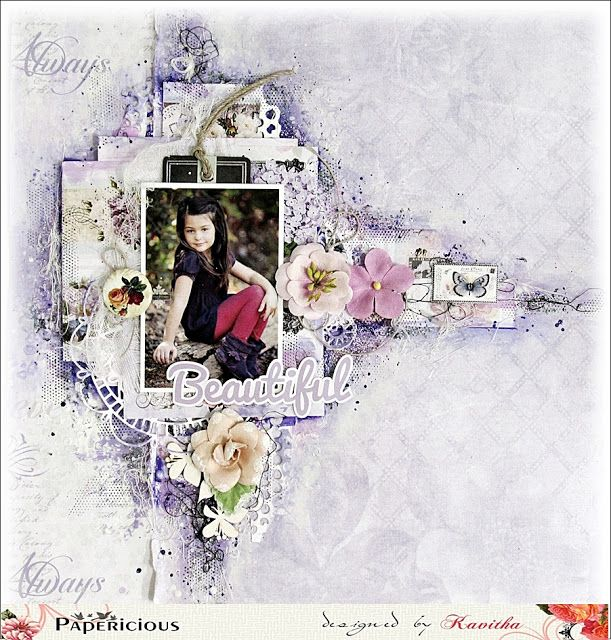 A wonderful tutorial by crafter Kavitha using Papericious new paper pack EPHEMERA
