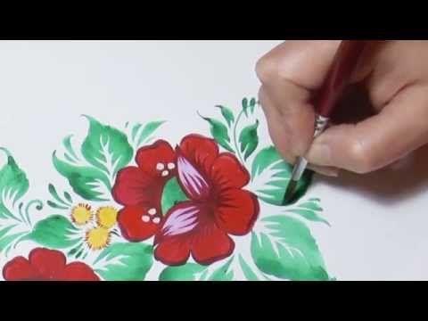 Роспись, Нолинская роспись, Nolinsk's painting, irishkalia - YouTube