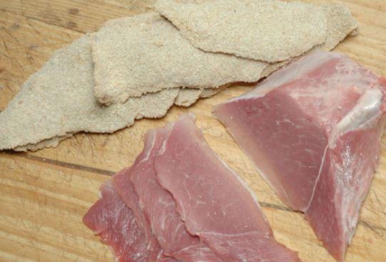 Milanesas de cerdo al horno