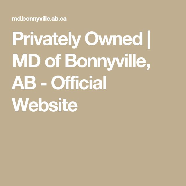 Privately Owned | MD of Bonnyville, AB - Official Website