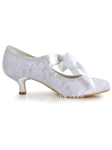 kitten heel lace wedding shoe | ... Round Toes Kitten Heel Lace And Satin Wedding Bridal Shoes (EP1073