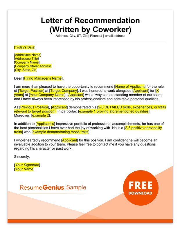 letter of recommendation samples  u0026 templates for