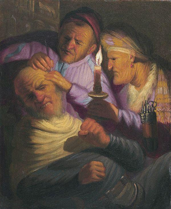 http://galik-123.livejournal.com/187729.html Рембрандт Ван Рейн. Хирургия (Осязание), 1625 г.