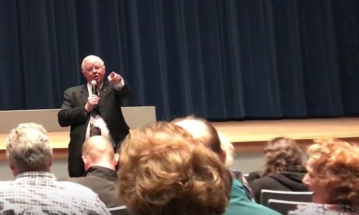 Facing increasing pressure from voters, Texas Republican Rep. Joe Barton lashed out at his constituents during a rowdy town hall last weekend.    Barton's angry outburst came after he was asked a question regarding legislation on violence