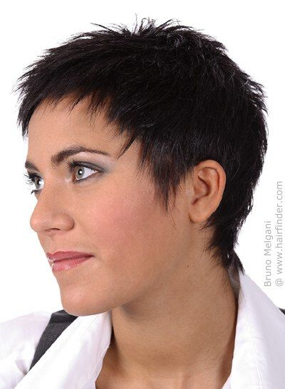 woman with short buzzed hair