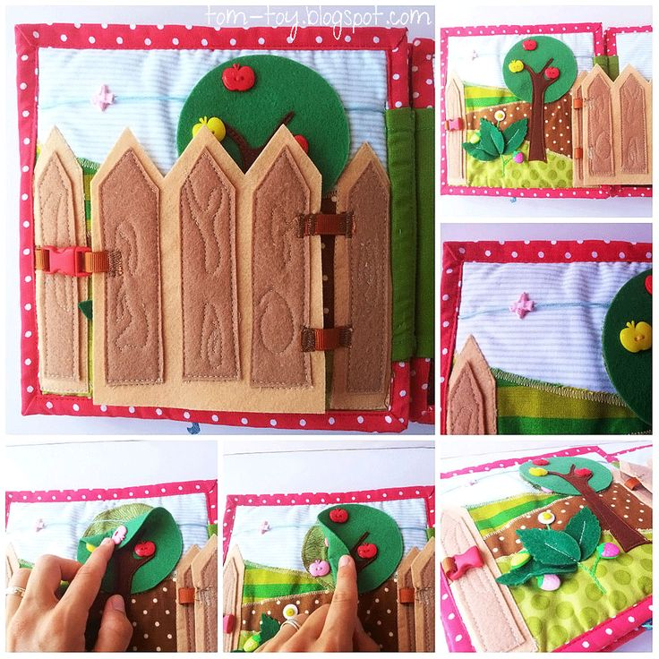 Quiet book for Miron @Tom John-toy.blogspot.co.il into the garden thru a gate- 3 layers of stiff felt and buckle latch.