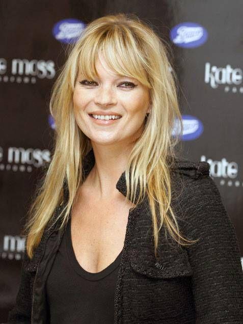 Kate Moss con la frangia
