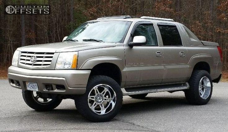 5 2003 Escalade Ext Cadillac Leveling Kit Body Lift Hostile Havoc Chrome Aggressive 1 Outside Fender