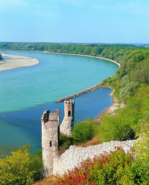Devin Castle along the Danube River.