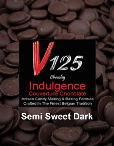 The best couverture candy making and molding semi sweet dark chocolate in the world. Ultimate quality couverture Belgian-style chocolate.