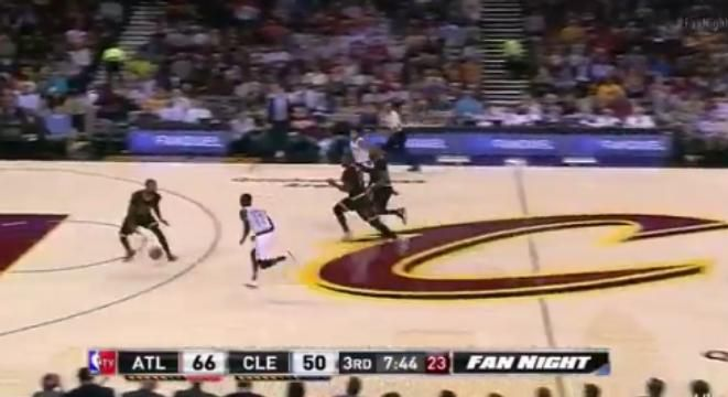 Kyrie Irving Finds LeBron With A No-Look Between-The-Legs Pass