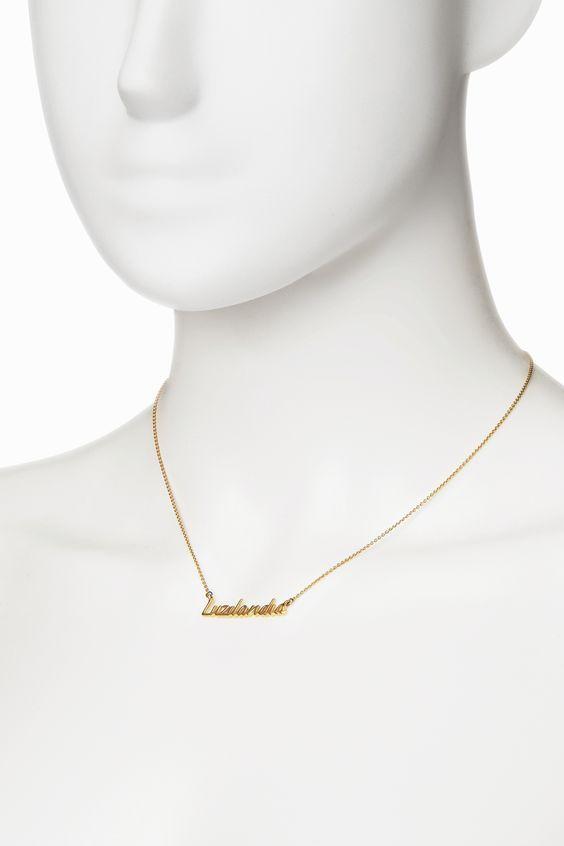 Freshfiber Hashtag Name Necklace Casted in Solid 18K Gold   From Freshfiber.com