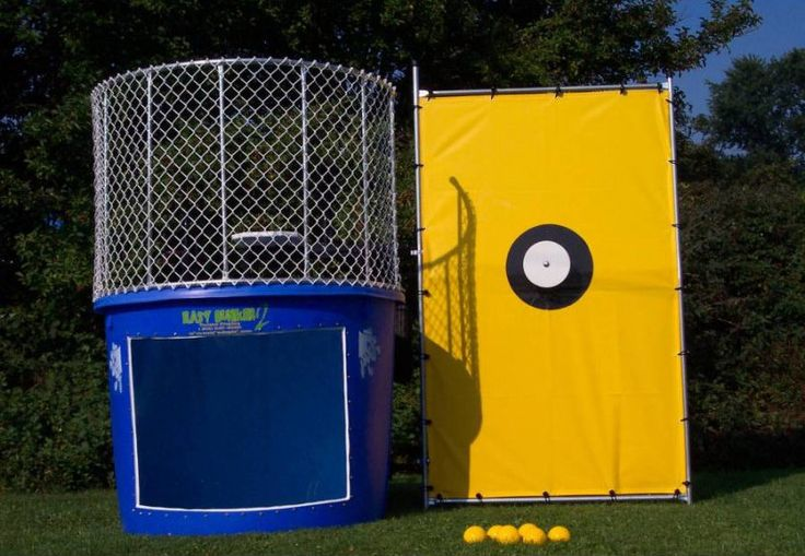 #DunkTank - Blue Portable Dunking Booth Commercial #WaterGame for sale at #TentAndTable http://tentandtable.net/party-accessories/carnival-games/dunk-tanks