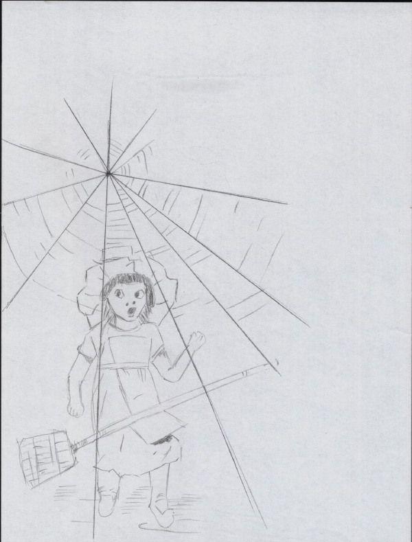 Salutare. Si azi sunt lenes, ma bazez mai mult pe imagini cred decat pe cuvinte. Mai ales ca e vorba de un desen in creion despre care nu prea am prea multe de zis. Ca atare, cam asta o sa fie toata vorbaria la care sunt dispus astazi. Va las cu imaginea, cu acest desen in creion. Este un desen care mie imi place mult, este vorba despre o fetita si o matura, o fetita harnica. :) Pana la anul, sanatate! Fetita harnica 4 (80%) 1 vote