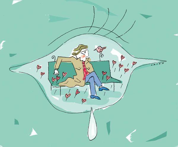 [강춘의 남자여자]'고장 난 내 수도꼭지' 사랑해! 당신의 말 한마디에 고장 난  내 수도꼭지에서는 또 눈물이 새어 나옵니다. #남자 #여자 #사랑 #일러스트 #illustration #love ▶http://joongang.co.kr/14q