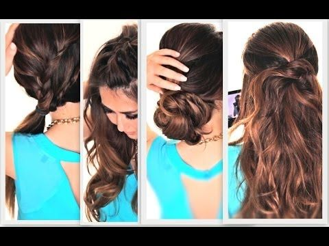6 EASY LAZY HAIRSTYLES | CUTE EVERYDAY HAIRSTYLE - YouTube