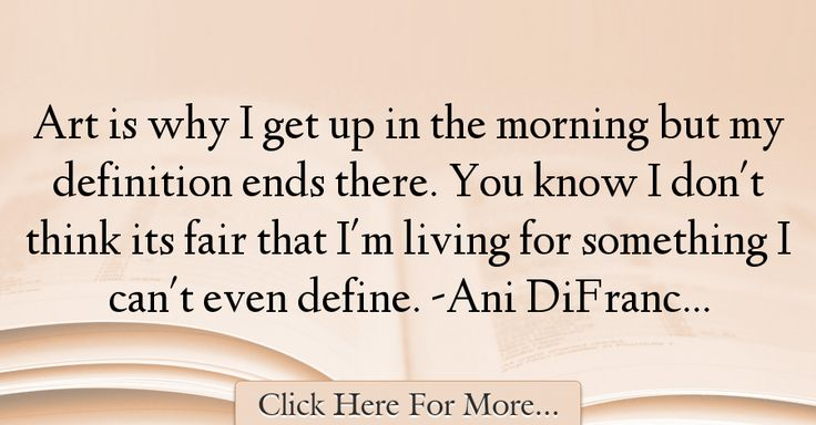 Ani DiFranco Quotes About Morning - 48287