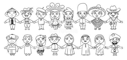 Different Nationalities Coloring Pages Sketch Page Libro De Colores Libros Para Colorear Paginas Para Colorear