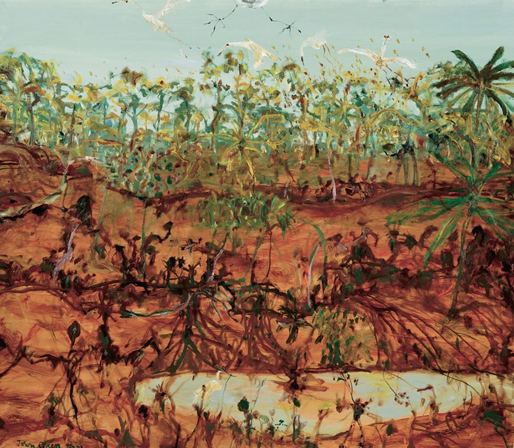Australian John Olsen  - Brolgas at Broome