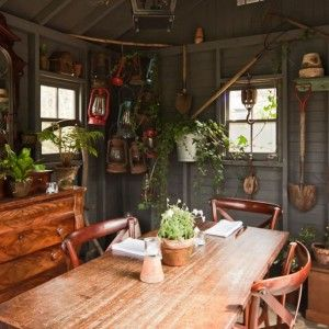 10 best images about chic sheds on pinterest sheds log for Garden shed interior designs