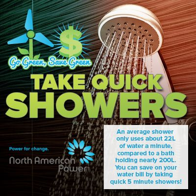 What Else Can You Do To Save Money Conserve Water And Go Green Try Taking Shorter 5 Minutes
