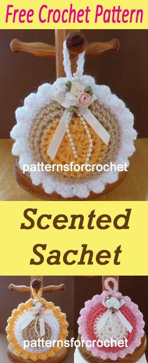 Scented sachet | free crochet pattern | #crochet