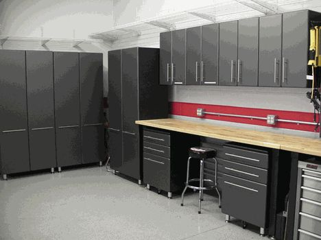 Nine Piece Set of Ultimate Garage Cabinets