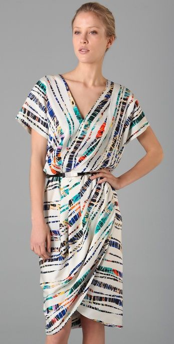 Rachel Roy Print Drape Tulip Dress - gorgeous for YangN, a sophisticated take on tie-dye