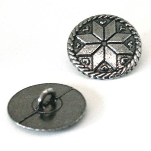 Selbu - tinnknapp 21 mm | Garnkurven