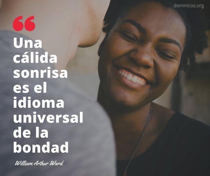 """""""Una cálida sonrisa es el idioma universal de  la bondad """" @dominicos_es #Frase #Frases #FelizFin #FelizViernes #Sonrisas"""