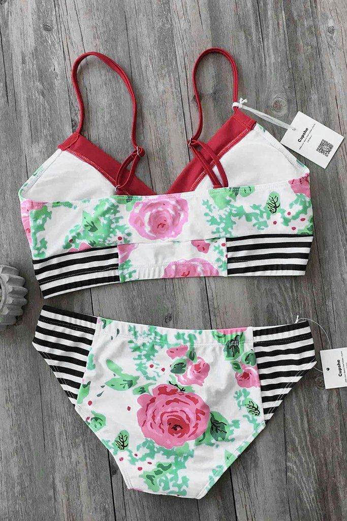 Cupshe Sweet Fantasy Floral Bikini Set