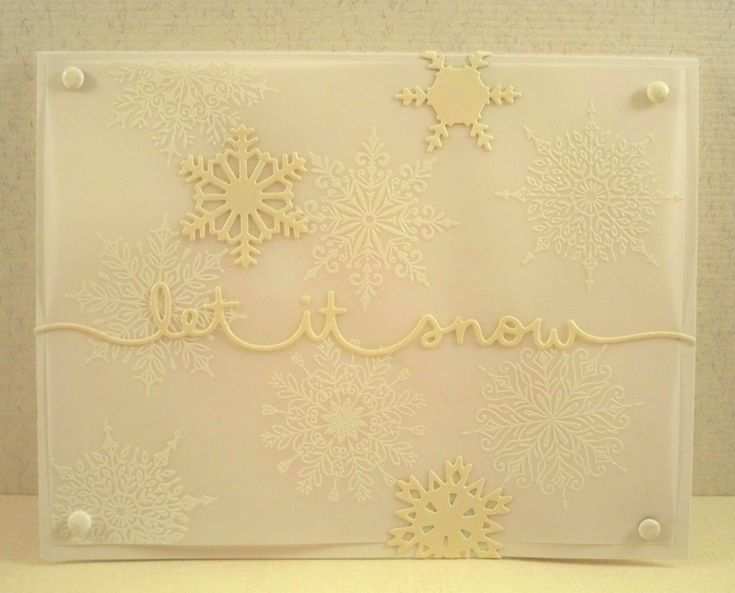 Let it Snow ~ Lawn Fawn, Tim Holtz, Simon Says Stamp & Vellum