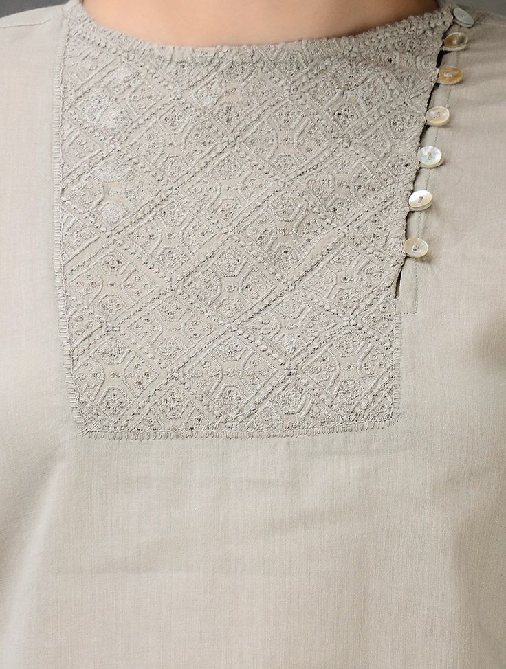 Buy Grey Embroidered Cotton Top Women Tops Online at Jaypore.com