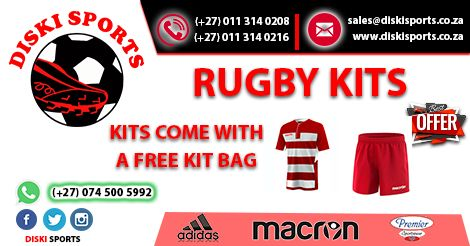 #Rugby #Kits on sale for your team, visit www.diskisports.co.za for more.