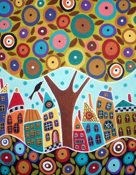 """""""Tree Eight House and a Bird"""" by Karla Gerard"""