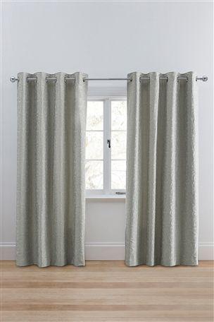 Buy Decorative Damask Eyelet Curtains from the Next UK online shop